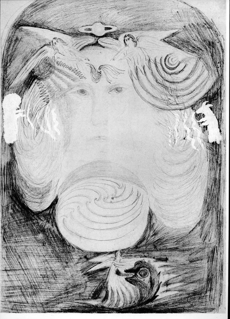 Other art by rudolf steiner 0010 original pencil sketch